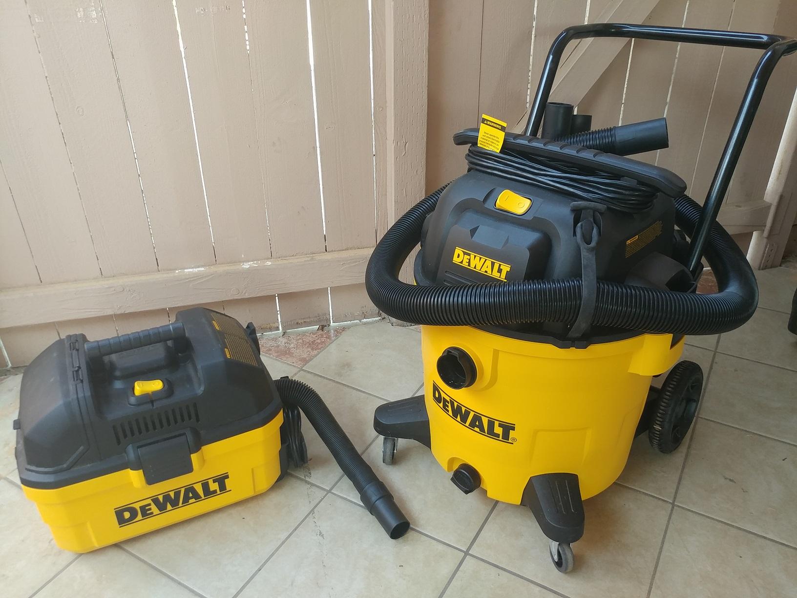 dewalt dxv04t 4 gallon portable dxv14p 14 gallon wet dry vac