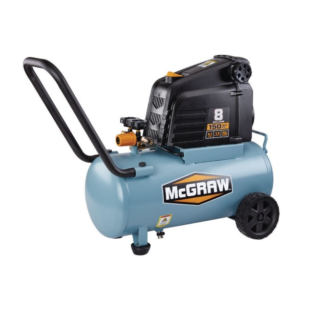 new harbor freight brand mcgraw offers 8 gallon 1.5 hp 150 psi oil ...