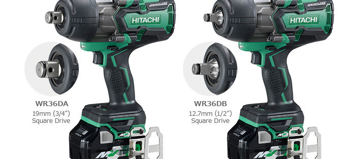 New Hitachi 36V MultiVolt High Torque Impact Wrenches WR36DA & WR36DB Feature Up To 1327 FT-LBS Nut Busting Torque!