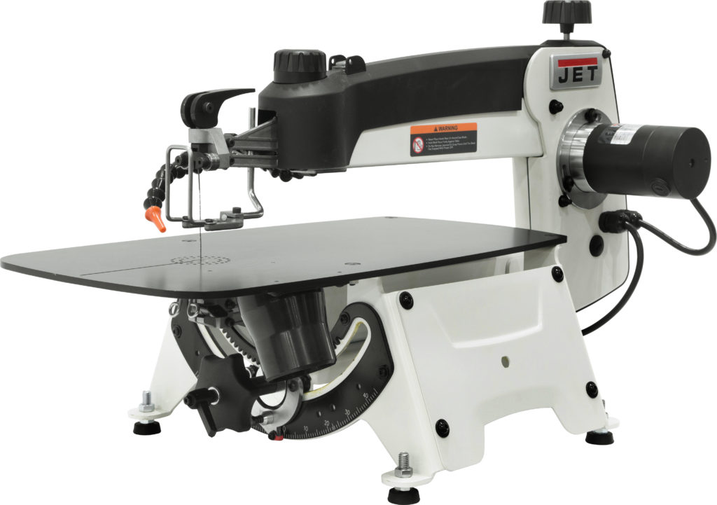 New jet 18 inch scroll saw features one step blade changetensioning the new scroll saws other features include an easily removable lower blade holder extra large slotted table 18 in throat capacity and top lift keyboard keysfo Choice Image