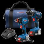 Deal – Bosch 18V Compact Tough Drill & Socket Ready Impact Driver 2x 2.0 Batteries Kit $149