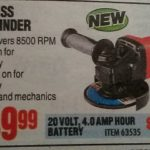 Harbor Freight EarthQuake XT 20V Max Cordless Brushless 4-1/2″ Angle Grinder Spotted