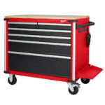 "New Milwaukee Steel Storage 40″ Mobile Work Bench And 56"" High Capacity Steel Storage Cabinet & Chest"