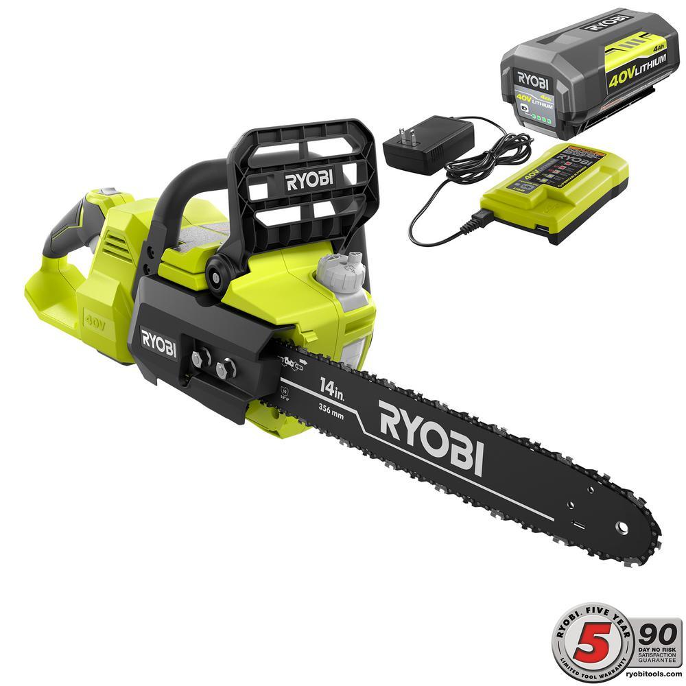 Ryobi RY40530 40V 14 Inch Brushless Chainsaw - Tool Craze