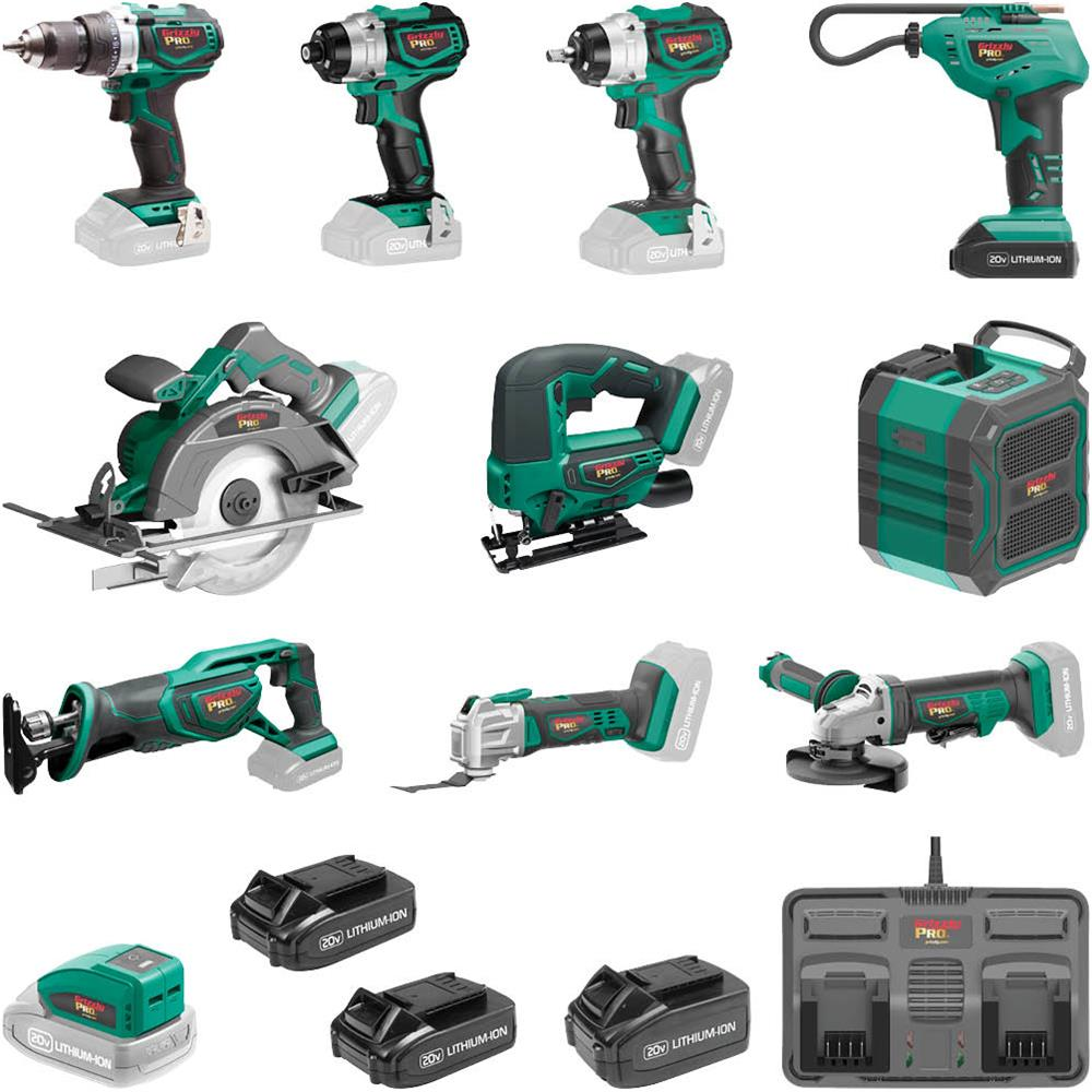 Grizzly Launches New Pro 20v Cordless Power Tool Line Tool