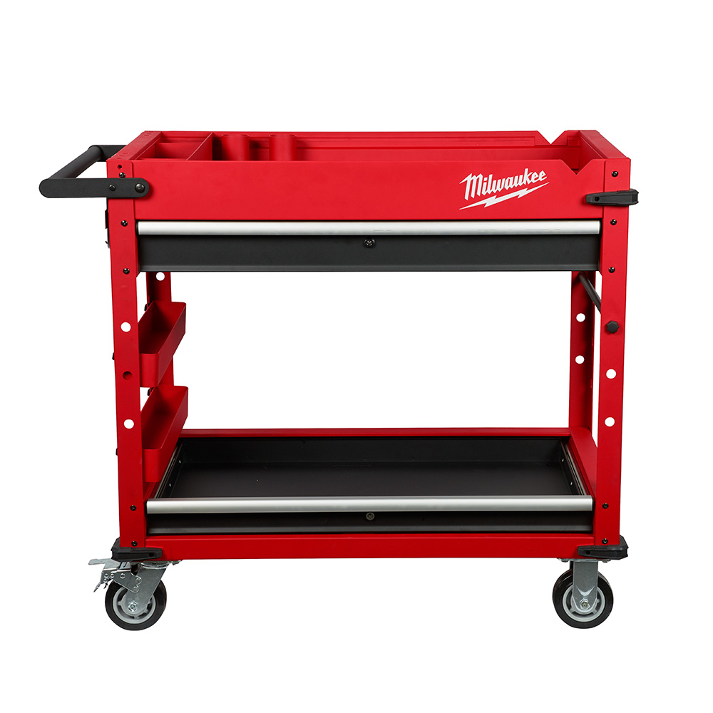 Groovy Milwaukee 40 Steel Work Cart 48 22 8590 Tool Craze Theyellowbook Wood Chair Design Ideas Theyellowbookinfo