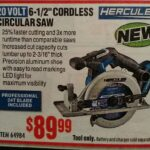 "Hercules 20V 6-1/2"" Cordless Circular Saw Is Official"