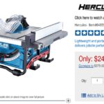 Harbor Freight News – Hercules Table Saw Huge Price Drop To $250 Just Over A Month After Launch