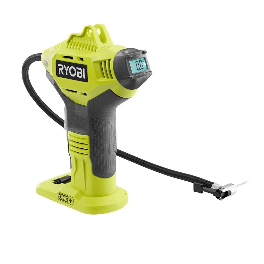 Ryobi P737-18-Volt ONE Cordless Power  Inflator w// PSI Gauge Tool Only