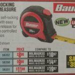 Bauer Self Locking Tape Measure In 16 / 25 / 30 FT Lengths