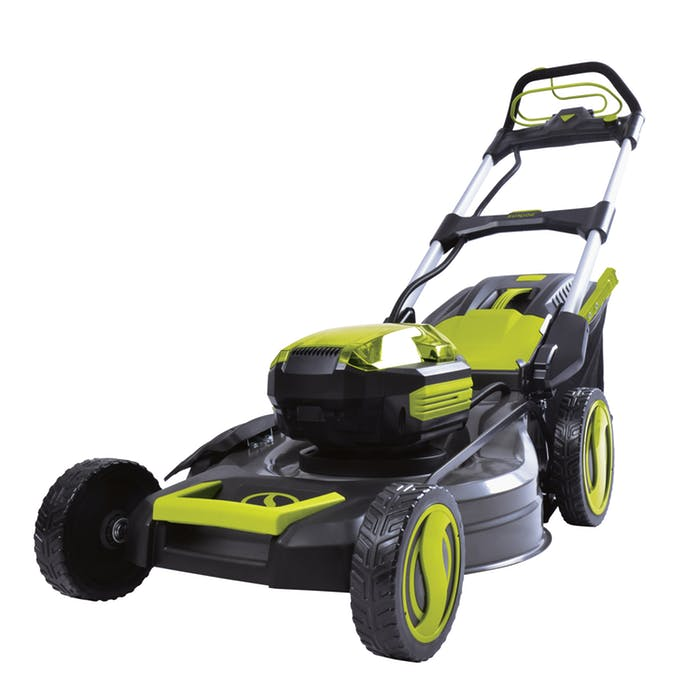 Sun Joe Ion100v 21lm Ct Cordless 100v Self Propelled Lawn