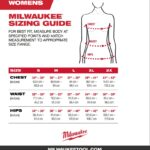 Milwaukee Mens / Womens Heated Jacket & Hoodie Sizing Chart