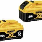 Deal – Dewalt DCB206-2 20V 6.0 ah Battery 2-Pack $129