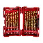 New Next Gen Milwaukee Shockwave Red Helix Titanium Drill Bits