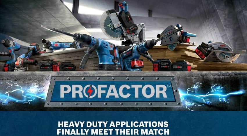 Bosch 18V PROFACTOR Power Tool List Unveiled