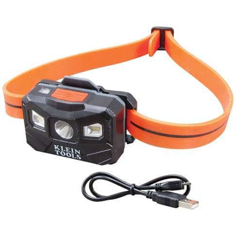 Klein Rechargeable Headlamp With Silicone Strap 56064