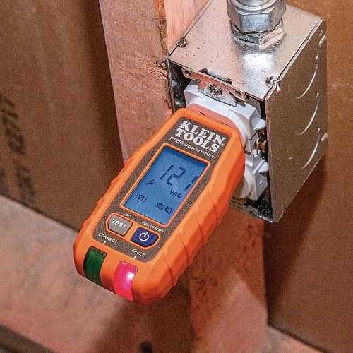 Klein Tools GFCI Receptacle Tester with LCD RT250